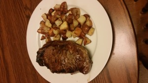cook a steak on the stove