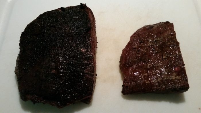 Flank steaks with hardcore carnivore rub