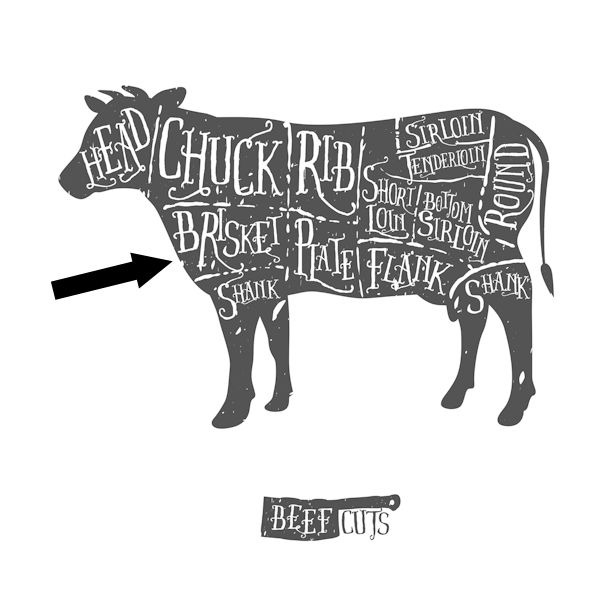 where does brisket come from