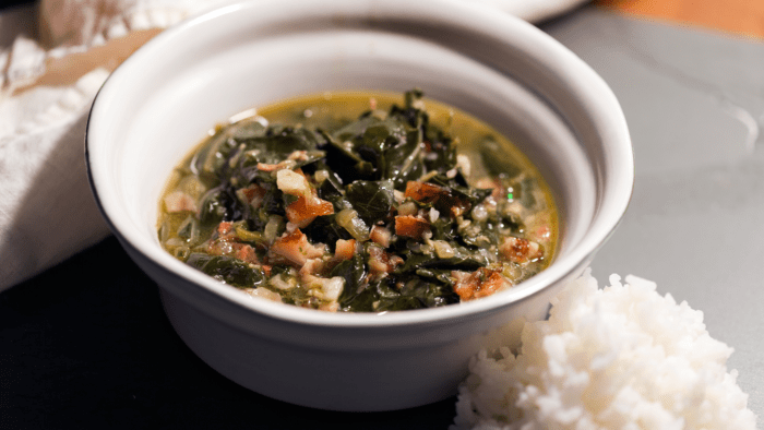 Collard Greens with Ham Hocks
