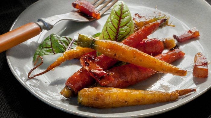 Glazed Carrots with Guanciale