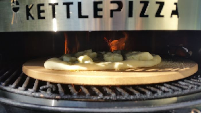 Flames in the Kettle Pizza