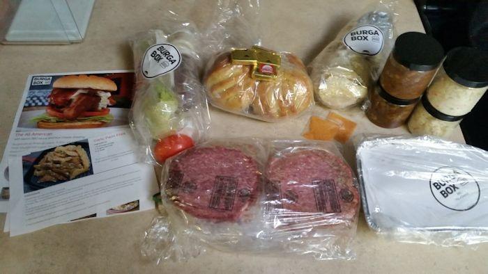BurgaBox All American Burger Ingredients