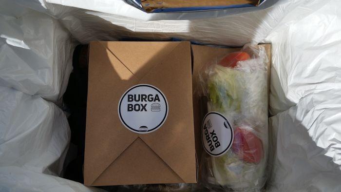 Neatly packed BurgaBox